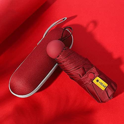 WANZPITS Mini Paraguas De Viaje, Sombrilla Plegable Portátil Ultraligerosa Y Compacta, Paraguas A Prueba De UV A Prueba De UV,7