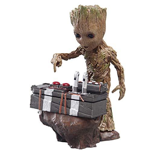 YALIXING Guardianes de la Galaxia 2 Película Groot Tree Hecho a Mano Groot Modelo de bebé Marvel Decoration Doll Regalo Figura de lron Spiderman