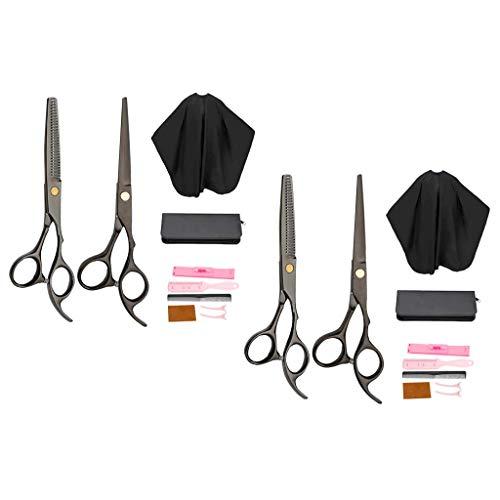 LSB-SHOWER 2X Juego de Tijeras de Corte de Pelo Profesional Juego Completo de Pinzas para Capa de peluquería