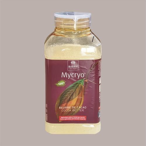 Lucgel srl 550 gr Burro di Cacao Mycryo In Polvere BARRY per Temperaggio Cioccolato   Grasso Vegetale per Friggere e Grigliare