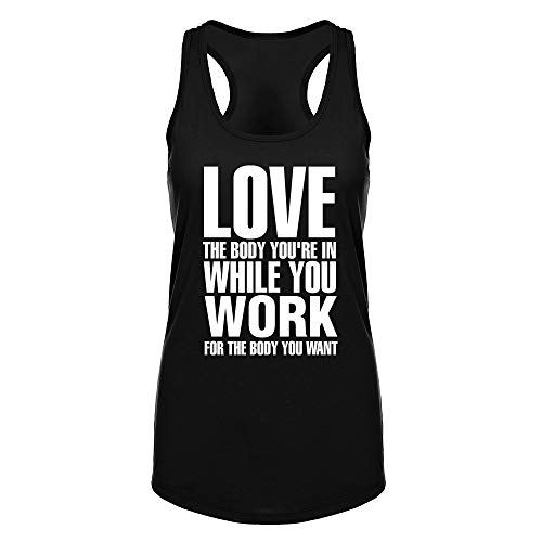 FANNOO Workout Tank Tops for Women-Womens Inspirational Funny Saying Fitness Gym Racerback Sleeveless Shirts Black