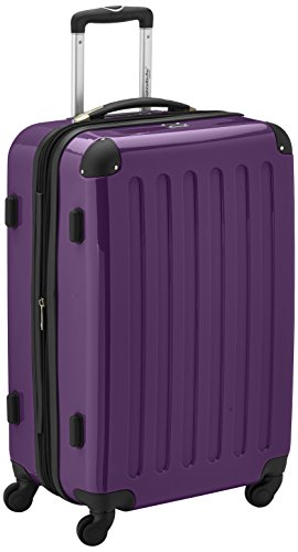 HAUPTSTADTKOFFER - Alex - Luggage Suitcase Hardside Spinner Trolley 4 Wheel Expandable, 65cm, TSA, purple