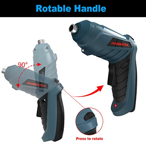 HANMATEK Rechargable Cordless Screwdriver Kits with straight and pistol style Powerful Electric Screwdriver Small Screw Guns