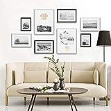 middle Marco De Fotos 8 Marcos Combinación Plexiglás 1:1 Tamaño del Dibujo De Instalación:160 * 80 Cm,Blanco/Negro/marrón,Sin Perforación,Reutilizable