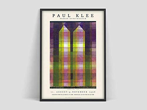 Klee Doppeltürme Poster, Druck, Ausstellungsplakat, Modern Minimalist, rahmenlose dekorative Leinwandmalerei J 30x40cm