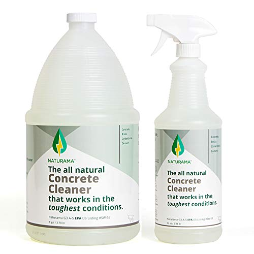 Naturama, All Natural Concrete Cleaner, Eco-Friendly EPA Registered for Driveways, Sidewalks, Garages, etc. Strongest Deep Cleaning. Made in the U.S. (Refill Pack)