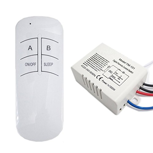 Fangjuhua 220V Multifuncional Interruptor de Control Remoto inalámbrico Interruptor Multifuncional Control Remoto de la lámpara de luz Digital Remoto Interruptor de Control
