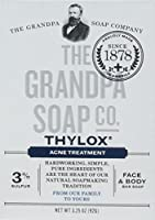 The Grandpa Soap Company おじいちゃんのSOAP、THYLOXにきびTRTMNT、3.25 OZ、6パック