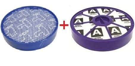 HEPA Allergie Filter Set kompatibel mit Dyson DC19 DC20 DC21 DC29 Vor-motor Filter undNach-motor Filter Filterklasse H13 neues Modell