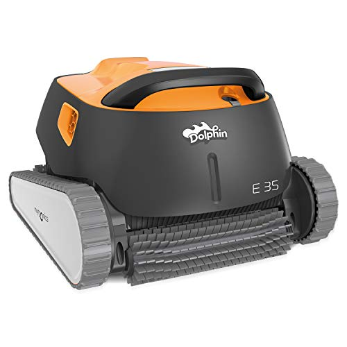 Dolphin E35 Automatischer Schwimmbecken-Reinigungsroboter. Handlicher, leichter und einfach zu reinigender Sauger. Ideal für in den Boden eingelassene und auf der Erde aufgestellte Schwimmbecken