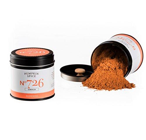 Bio Pumpkin Spice N°726 - perfekt für Kürbisgerichte - würzig,warm & lieblich, gemahlen, in eleganter Gewürzdose mit doppeltem Aromadeckel, Inhalt: 55g
