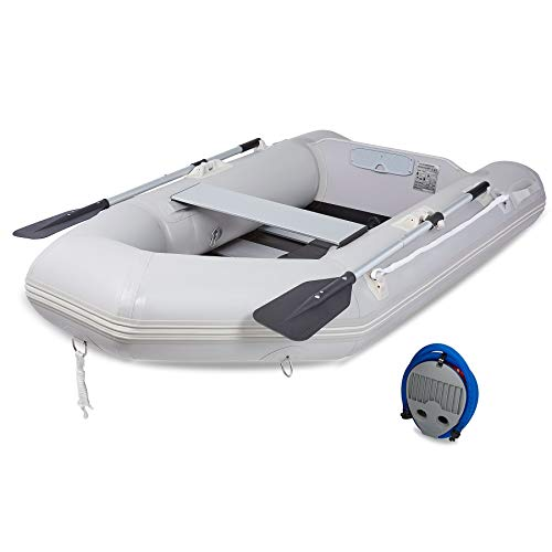 CO-Z 7.5' Inflatable Kayak for Adults, Portable Boat Raft for 2 Person Water Touring, Foldable Dinghy Float for Boating Fishing Hunting or Playing on Lakes Rivers and White Water Rapids