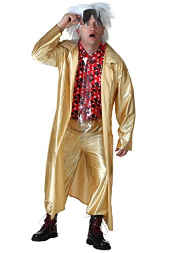 Adult Plus Size Back to The Future II Doc Brown Costume, 2XL, 3XL
