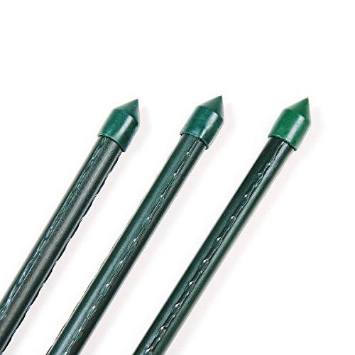 1x Pflanzstab/Rankhilfe grün kunststoffbeschichtet - 13 x 1750 mm / 175 cm