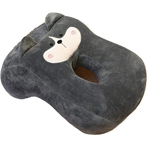 YPSMLYY Memory Foam-Reise-Siesta-Gesichtskissen Rückenlehnen-Stützkissen Mit Armlehnen Siesta-Schreibtisch-Schlafkissen Für Erwachsene Und Kinder Büro Schulbibliothek,Grey