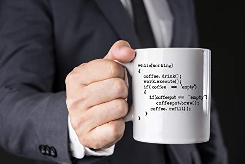 Coffee++ Program 11oz Coffee Mug Nerd Engineer Idea for Men Science Mug Great Gag for Programmer Geeks Computer Science Developers Coders Ceramic Tea Mugs For Adults - By AW Fashions