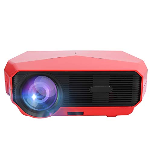 Dilwe Mini HD Android Portable Projector, 4K Home Theater ± 15 Vertical Keystone Correction Bluetooth Projector, 3D Video Multimedia Projector Manual Correction Player, Best Gift(Rojo)