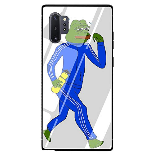 Internet Meme Smug Frog Pepe Tempered Glass TPU Black Cover Case for Samsung Galaxy Note 8 9 Note 10 Plus (G5,for Samsung Note 9)