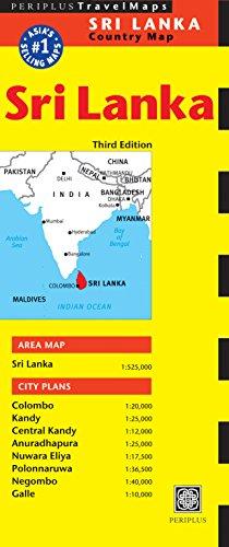 Sri Lanka Travel Map (Periplus Travel Maps) [Idioma Inglés]