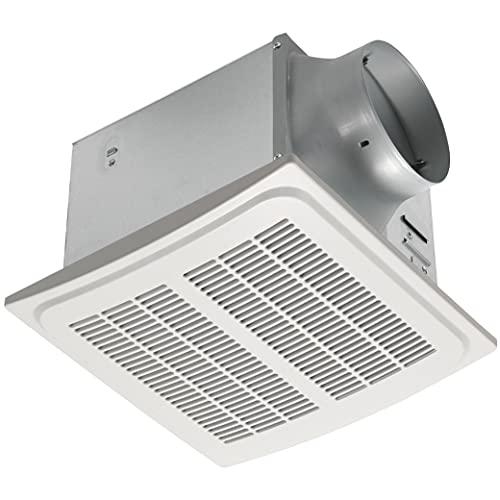 Homewerks 7136-02HW Bathroom Humidity Sensor Powerful Exhaust Ventilation Fan 140 CFM Whisper Quiet 1.0 Sone Energy Star