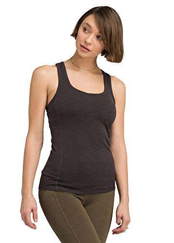 Prana Damen Becksa Tank, Black Heather, Large