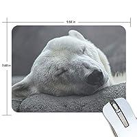 マウスパッド かわいい 石を支える寝た 白熊 高級 ノート パソコン マウス パッド 柔らかい ゲーミング よく 滑る 便利 静音 携帯 手首 楽