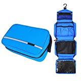 Neceser Viaje Hombre y Mujer,Neceser Maquillaje Pack Neceser Bao Toiletry Kit, Boic Pequeo Bolsas de Aseo Impermeable, Bolsa de Viaje,Cosmtico Organizadores de Viaje Travel Toiletry Bag (Azul)