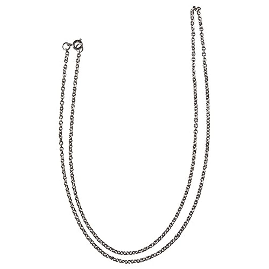 RAYHER 2266121?Stainless Steel Necklace Curb Link Chain, 60?cm, 2, 5?mm Diameter, Includes 1?Snap Ring, Stainless Steel, Platinum, 6.5?x 4.5?x 300?cm