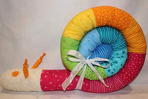 Bettschnecke 200 cm JUNIA-SHOP kunterbunt Design 2020 Bettschlange Nestchen Bettrolle Bettumrandung Baby Geschenk Geburt Taufe Made in Germany auch 3,00 m und 4,00 m