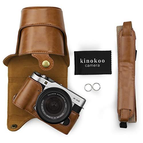 kinokoo Funda de cuero PU para Fujifilm X-A3, Fujifilm X-A10 Fujifilm X-A5 y lente de 16-50 mm (marrón)