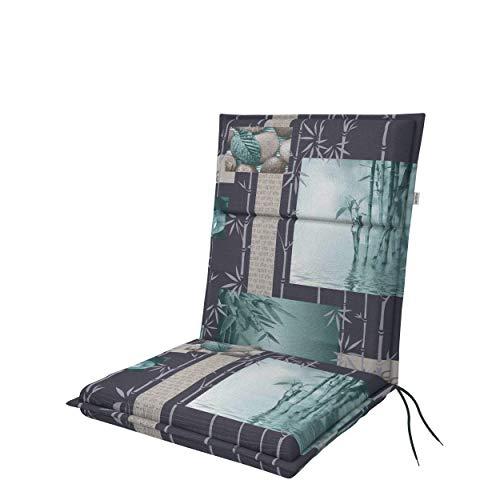 doppler Niederlehner Spirit - Polsterauflage - Mit Rückenhalteband/Bindebänder - Made in Europe - Für besten Sitzkomfort
