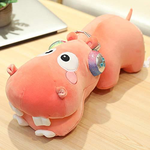 Pluche Hippo Zachte Pluche Pop Met Koptelefoon Pluche Pluche Slaapkussen-roze_120cm