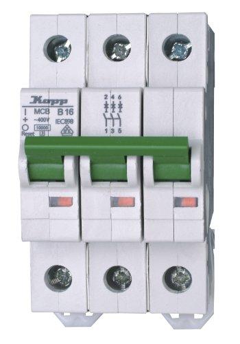 Kopp 721630005 Green Electric Leitungsschutzschalter (MCB) 3-polig, 16 A
