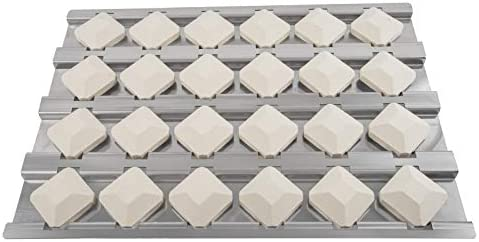 BBQ Future Stainless Steel Heat Plate Flame Tamer with 24pcs Ceramic Briquettes Compatible Alfresco product image