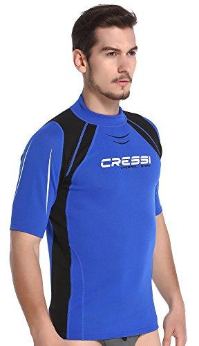Cressi Thermo SL Camiseta Corta y Manga Larga en Tejido elástico, Hombre, Azul, M/3 (50)