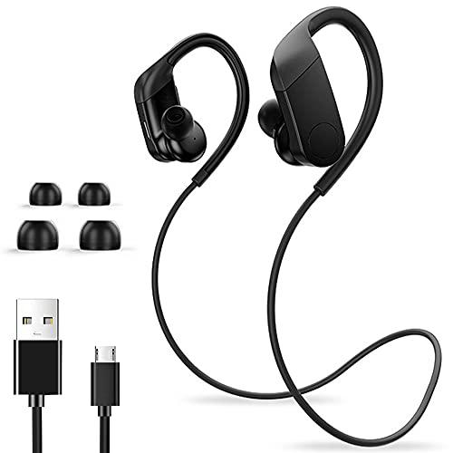Bluetooth-Kopfhörer, Bluetooth-Ohrhörer, IPX7 wasserdichte Sport-Ohrhörer mit Bluetooth 5.0 CSR, kabellose In-Ear-Kopfhörer Noise Cancelling-Mikrofon Sport-Ohrhörer für Fitnessstudio Laufen