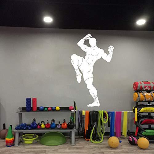Artes marciales Muay Thai Wall Decal Fitness Workout Taekwondo Karate Taekwondo Boxing Athlete Wall Sticker Vinyl Art Wall Sticker