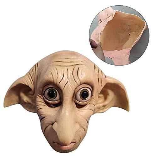 rethyrel Offizielle Adult Dobby Maske Kostüm Zubehör Dobby Elfen Maske Cosplay Dobby Latex Maske Halloween Kopfbedeckung Karneval Kostüm Requisiten
