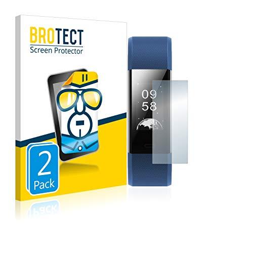 BROTECT Schutzfolie kompatibel mit Yamay Fitness Tracker SW350 / Yamay Fitness Tracker SW333 (2 Stück) klare Displayschutz-Folie