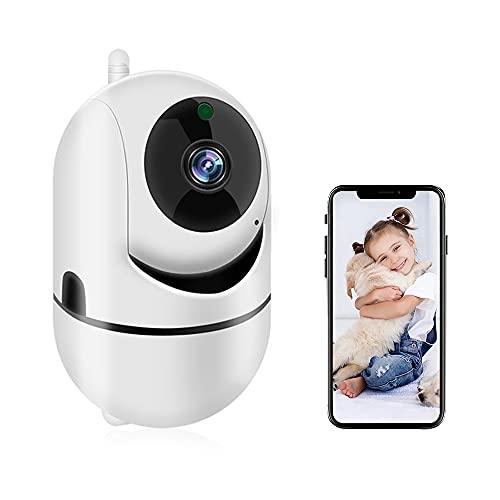 podofo Telecamera Wi-Fi Interno Senza Fili, 720P Telecamere Videosorveglianza Visione Notturna, Rilevamento del Movimento, Audio Bidirezionale Rotazione ad Monitoraggio Remoto per Cat/Cane/Tata