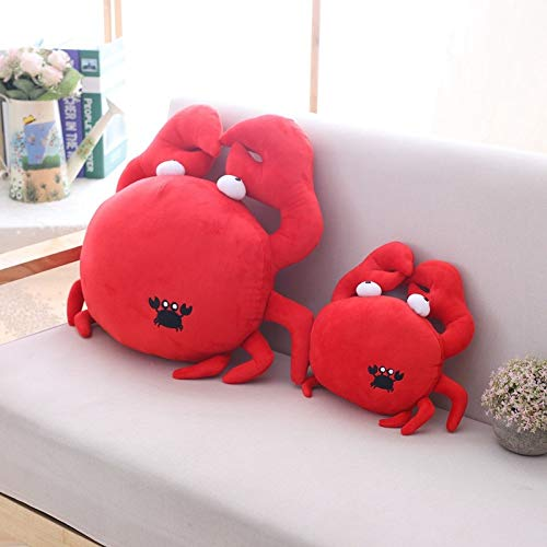 NMJHG 30cm/50cm Kawaii Funny Crab Plush Pillow Soft Red Crab Stuffed Cartoon Animal Toy Sofa Home Decoration Cushion Doll Friends Gift 50cm