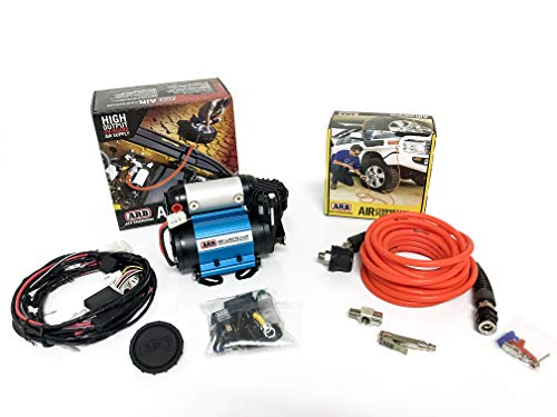 ARB Inflation Kit Air Compressor and Orange Air Hose Pump Up Kit with Quick Fitting Bundle On Board System, CKMA12 and 171302 Part Numbers in a New Air Systems Printed Box (Compressor & Inflation Kit)