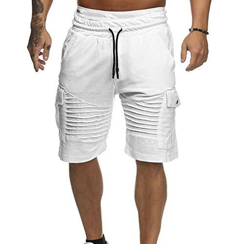 Herren Cargo Shorts, Sumeiwilly Bermuda Kurze Hose für Männer Vintage Trainingshose Casual Jogging Hose Baumwolle Chino Shorts für Männer