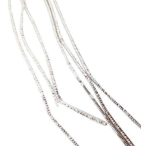 IBA Indianbeautifulart Indisches metallisches Goldbarren-Silber-raues Purl, das dekorative Handstickerei 100 Gramm näht