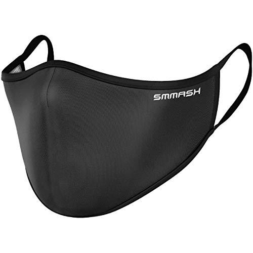 SMMASH Mundschutz Maske Wiederverwendbar, Hochwertiges Gesichtsmaske Waschbar, Multifunktional Trainingsmaske für Radfahren, Laufen, Staubschutzmaske für Damen, Herren, Größe L/XL