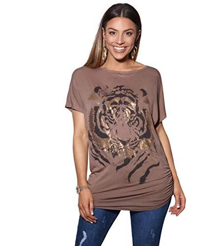KRISP Camiseta Mujer Top Tallas Grandes Blusa Manga Corta Ancha Frunci