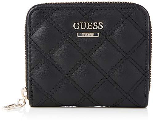 Guess CESSILY SLG Small Zip Around, Accessori da Viaggio-Portafogli Donna, Black, One Size