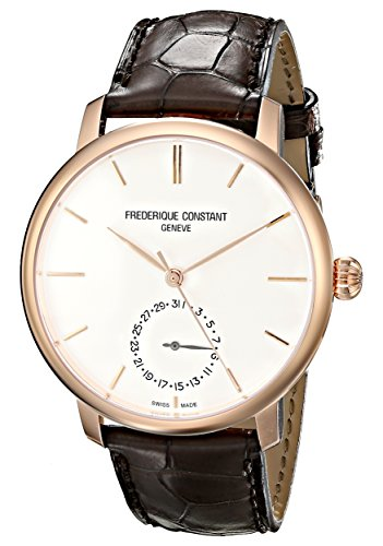 Frederique Constant Men's FC710V4S4 Gold-Tone Automatic Watch with Leather Band