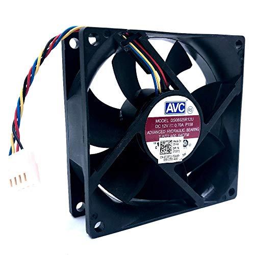GENFALIN Para AVC 8025 80mm x 80 mm x 25 mm DL08025R12U Rodamiento hidráulico PWM refrigerador Fan de enfriamiento 12V 0.50A 4Wire Conector 4pin (Blade Color : DS08025R12U NEW)