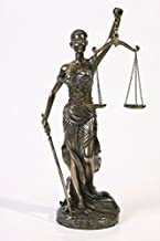 PTC 12 Inch La Justica with Scales and Sword Resin Statue Figurine